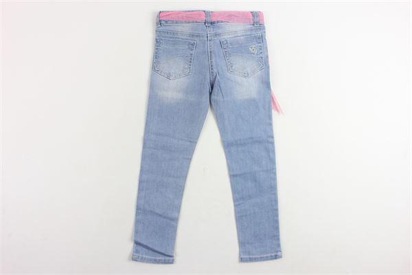 jeans 5 tasche con ricami e cintura ELSY GIRL   Jeans   66044COBALTOAZZURRO