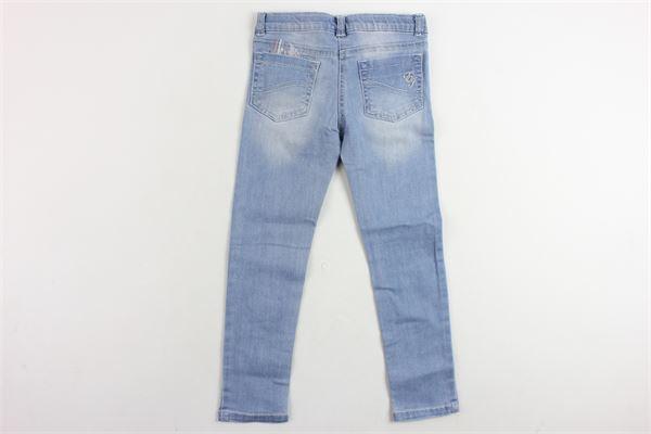 jeans 5 tasche tinta unita con stichers ELSY GIRL   Jeans   6604COBALTOAZZURRO