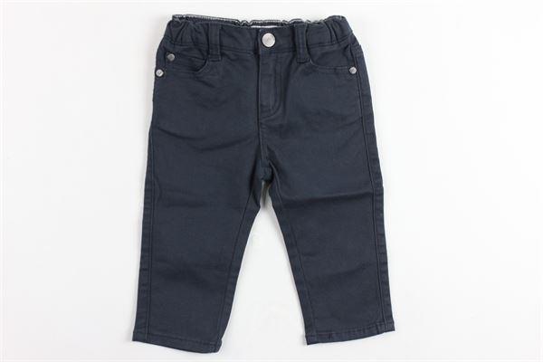 pantalone 5 tasche tinta unita girovita regolabile EMPORIO ARMANI | Pantaloni | 6ZHJ024NGGZBLU