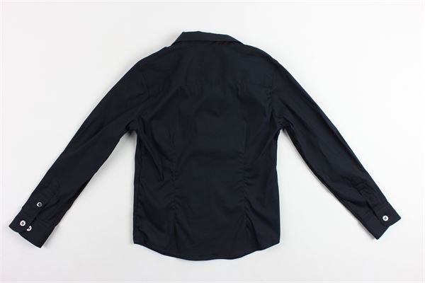 camicia manica lunga tinta unita con logo EMPORIO ARMANI | Camicie | 8N4C091N06ZBLU