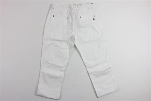 pantalone tinta unita tasca a filo FAY | Pantaloni | 906280100BIANCO