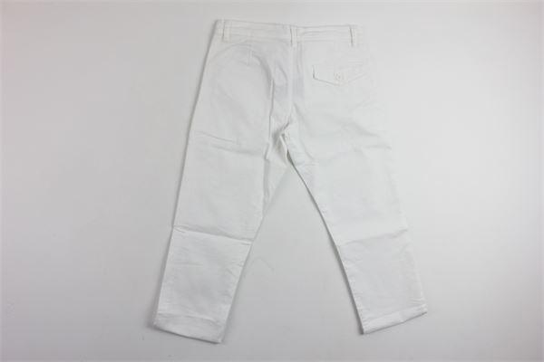 pantalone tasca america tinta unita FAY | Pantaloni | 96280BIANCO