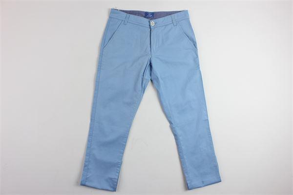 pantalone tasca america tinta unita FAY | Pantaloni | CA05476AZZURRO