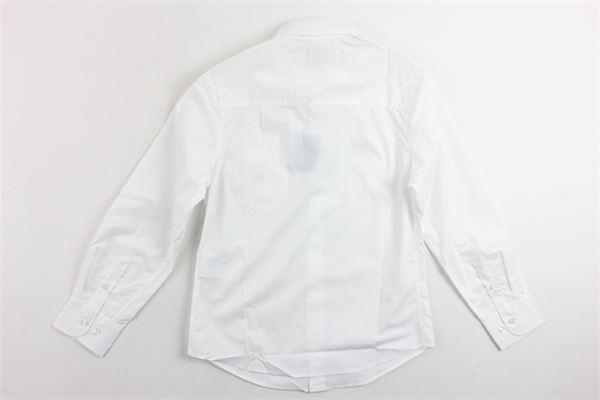camicia manica lunga tinta unita in cotone FAY | Camicie | NDHA138741LBIANCO