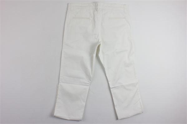 pantalone tinta unita tasca america FAY | Pantaloni | NRH8134726B001BIANCO