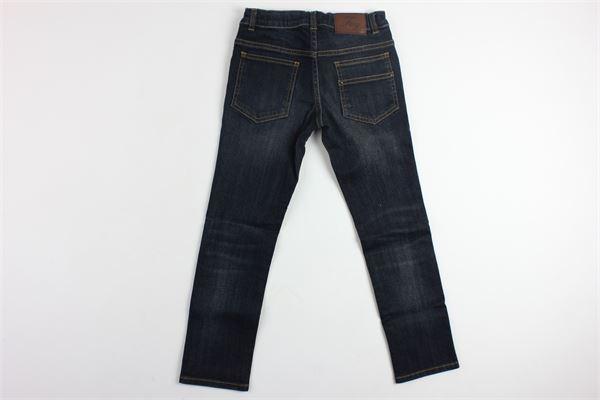 jeans 5 tasche tinta unita con girovita regolabile FAY | Jeans | NUG8735729LBLU