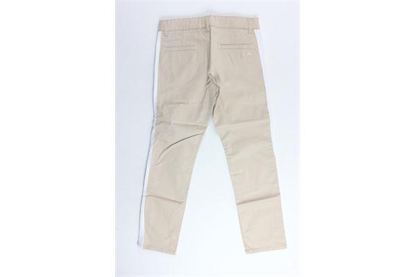 pantalone tinta unita in cotone tasca america profili in contrasto FAY | Pantaloni | NUH8038731LBEIGE