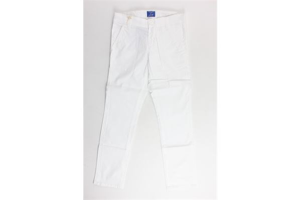 pantalone tinta unita tasca america girovita regoalbile FAY | Pantaloni | NUH8038732TBIANCO