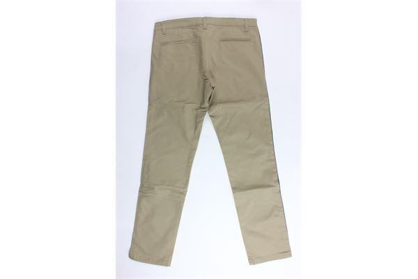 pantalone tinta unita tasca america profili in contrasto FAY | Pantaloni | NUI80377320MARRONE