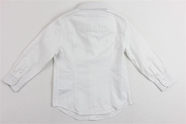 camicia tinta unita manica lunga stampa fay in contrasto FAY | Camicie | UB001BIANCO