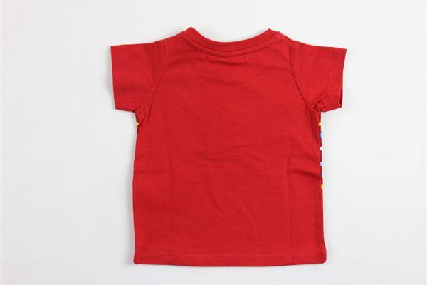 t-shirt mezza manica tinta unita con stampa FENDI | T-shirts | BMI023ROSSO