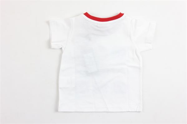 t-shirt mezza manica tinta unita con stampa FENDI | T-shirts | BMI027BIANCO