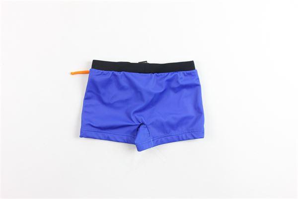costume boxer corto con stampa FENDI | Costumi | JMM004SUTF0TY2COBALTO