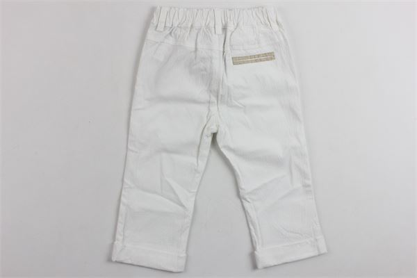 pantalone in cotone tina unita microfantasia FENDI | Pantaloni | W46220BIANCO