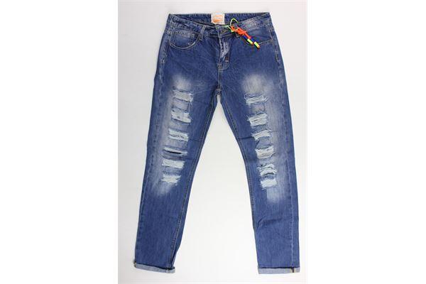 jeans con strappi 5 tasche FRED MELLO | Jeans | 009215BLU