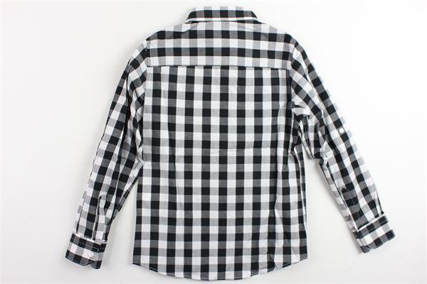 camicia a quadri FRED MELLO | Camicie | 009250NERO