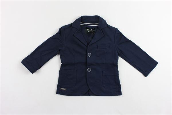 giacca tinta unita in felpa FRED MELLO | Giacche | 009345BLU