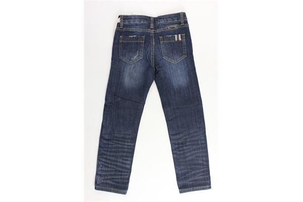 jeans 5 tasche tinta unita con strappi FRED MELLO | Jeans | 011665BLU