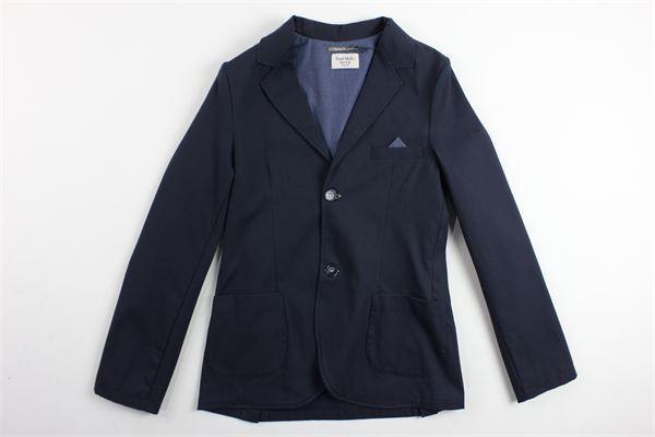 giacca tinta unita microfantasia con taschino FRED MELLO | Giacche | 013336BLU