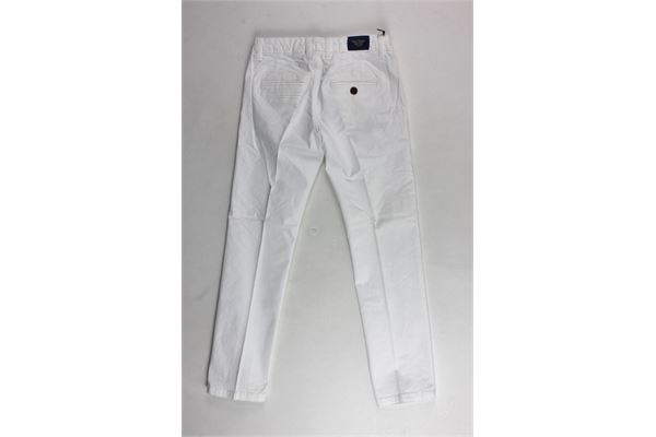 pantalone tinta unita tasca america girovita regolabile FRED MELLO | Pantaloni | 013722BIANCO