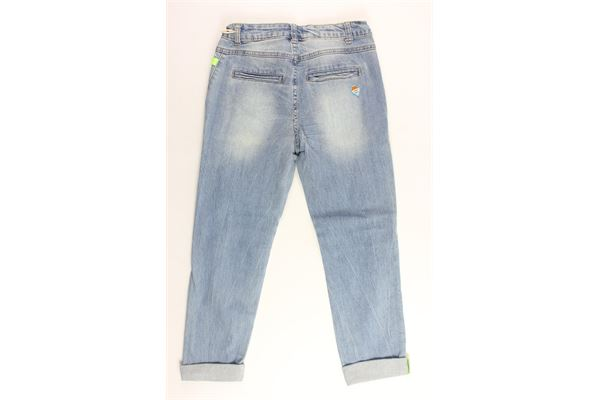 jeans tasca america tinta unita con strappi FRED MELLO | Jeans | 013749AZZURRO