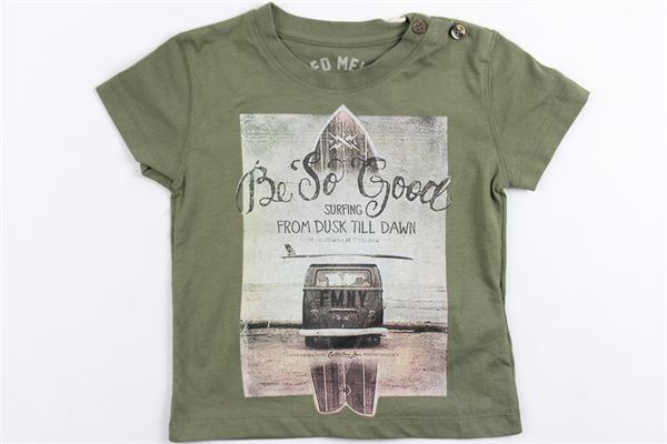 t-shirt mezza manica tinta unita con stampa FRED MELLO | T-shirts | 013831VERDE