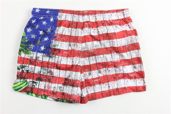 costume boxer stampa bandiera america FRED MELLO | Costumi | 013985RBIANCO