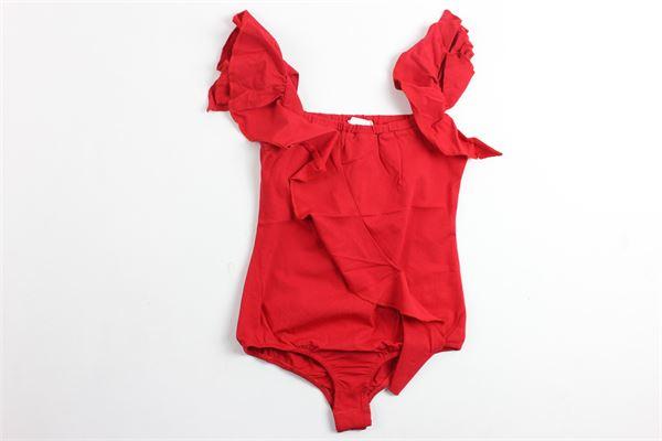body tinta unita con rouge FUN & FUN   Body   FNBBD1138ROSSO