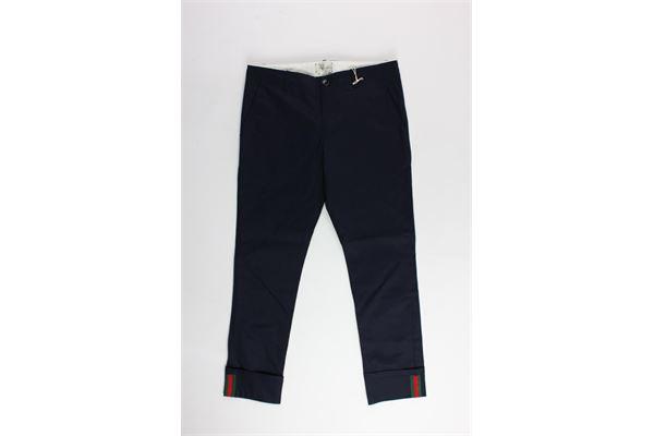 pantalone tinta unita tasca america GUCCI | Pantaloni | BA1475447BLU