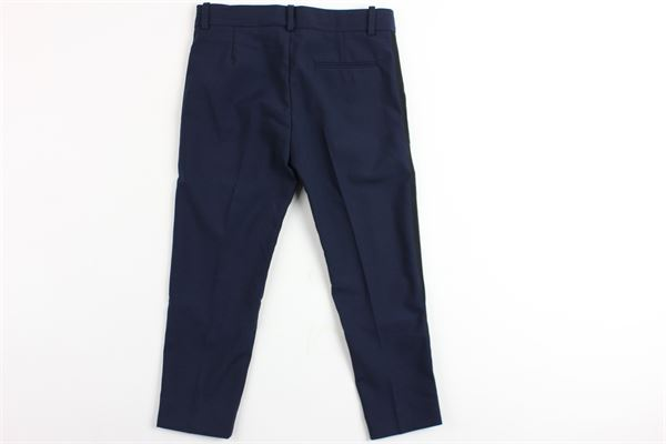 pantalone elegante con profili neri laterali GUCCI | Pantaloni | BA1479648BLU