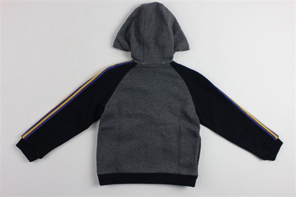 felpa zip e cappuccio profili in contrasto GUCCI | Felpe | BMR4757681173GRIGIO