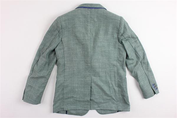 giacca sfoderata tinta unita in cotone I PICCOLI GIOSBRUN | Giacche | GMK18S11VERDE
