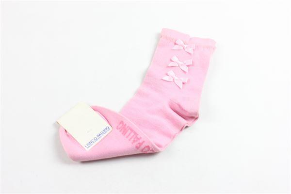 calzini corti tinta unita con applicazione fiocchi I PINCO PALLINO   Calzini   0601ROSA