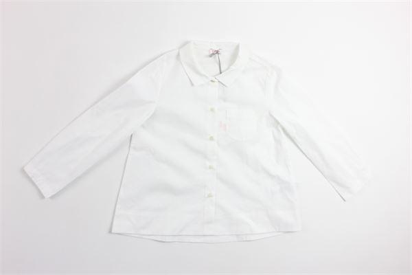 camicia manica lunga tinta unita con taschino IL GUFO   Camicie   CL123C0031BIANCO