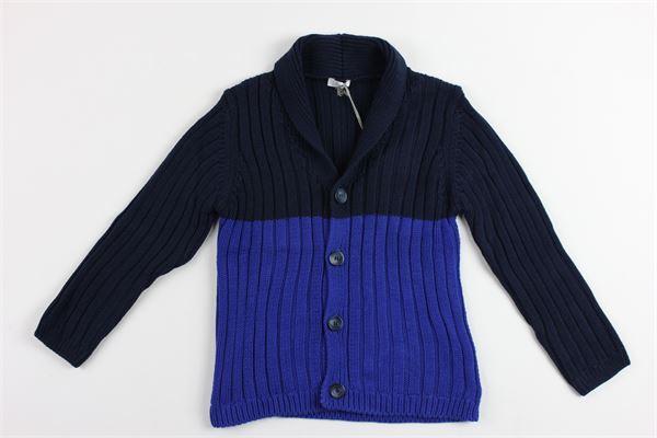 cardigan bicolore con collo IL GUFO | Maglie | GF279EM6004947BLU