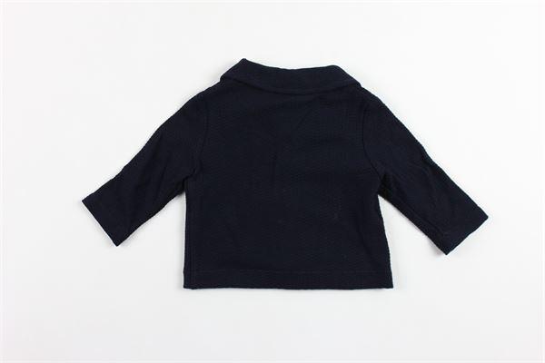 giacca tinta unita in felpa con taschini IL GUFO | Giacche | P18BF156M0090BLU