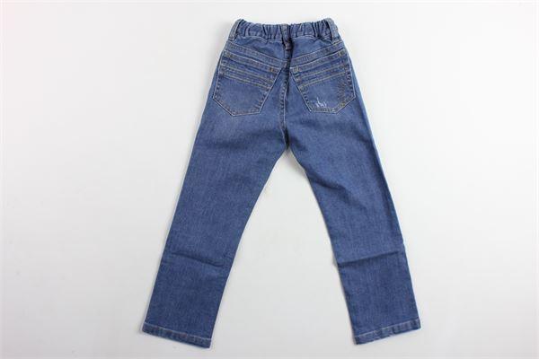 jeans 5 tasche con strappi girovita regolabile IL GUFO | Jeans | P18PL093J0026BLU