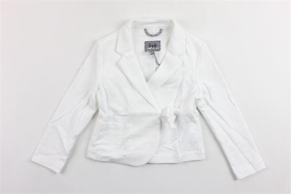 giacca tinta unita in felpa con fiocco in vita IL GUFO | Giacche | P19BF028M0030BIANCO