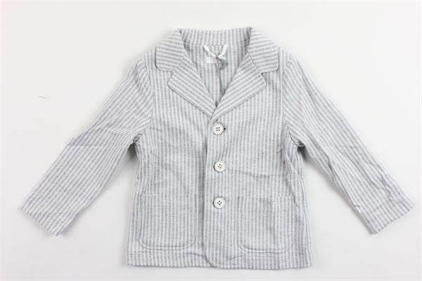 giacca rigata in felpa IL GUFO | Giacche | P19BF0331072GRIGIO