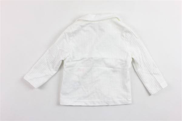 giacca tinta unita rigata IL GUFO | Giacche | P19BF033M1072BIANCO