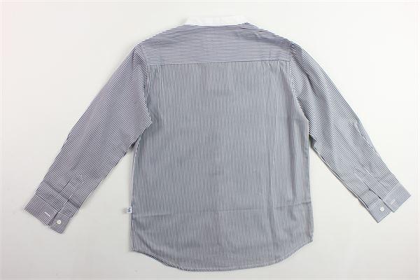 camcia manica lunga con taschino rigata collo coreano IL GUFO | Camicie | P19CL016C1052BIANCO