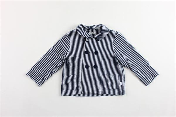 giacca rigata con taschini IL GUFO | Giacche | P19GA300M1072BLU