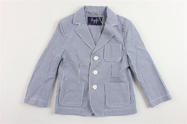 giacca microfantasia con taschino IL GUFO | Giacche | P19GB005C3106BLU