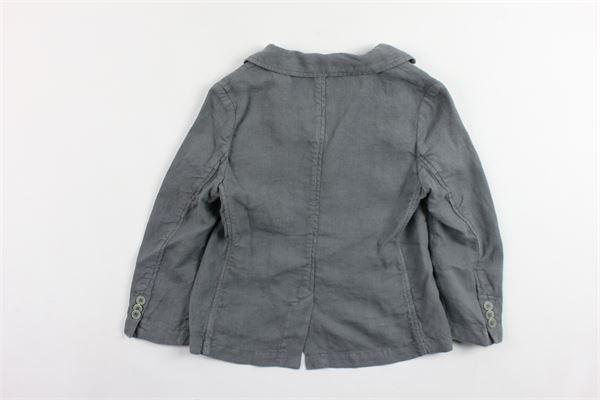 giacca tinta unita sfoderata 100%lino IL GUFO | Giacche | P19GB005L6007GRIGIO