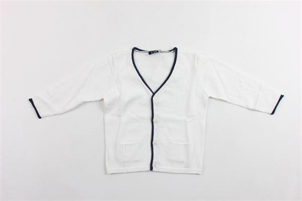cardigan tricot tinta unita manica lunga profili in contrasto IL GUFO | Cardigan | P19GF172EM200BIANCO