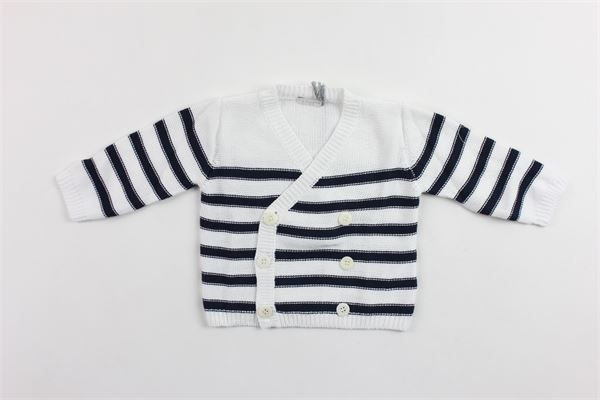 cardigan tricot manica lunga rigato IL GUFO | Cardigan | P19GF301EM600BLU