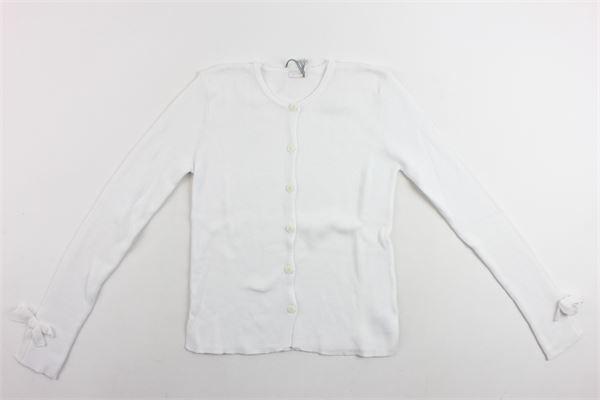 cargigan tricot manica lunga tinta unita IL GUFO   Cardigan   P19GF308EM600BIANCO