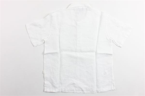 polo mezza manica tinta unita 100%lino IL GUFO | Polo | P19PC060L6006BIANCO
