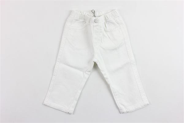 pantalone elastico in vita tinta unita 5 tasche IL GUFO | Pantaloni | P19PL030J0029BIANCO