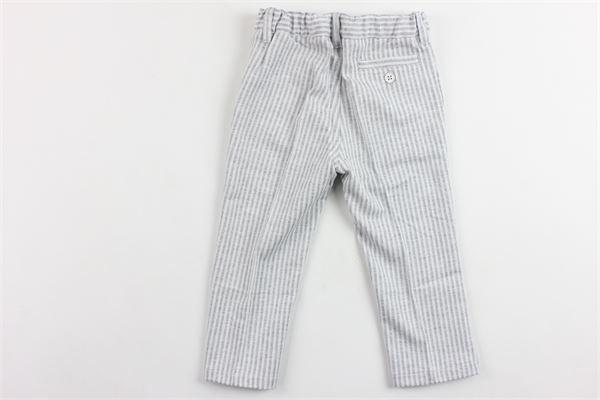 pantalone rigato tasca america girovita regolabile IL GUFO | Pantaloni | P19PL083M1072GRIGIO